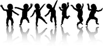 Dansende babys stock illustratie