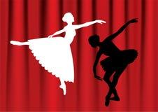 Dansende ballerina. Stock Afbeeldingen