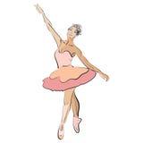 Dansende ballerina Stock Foto's