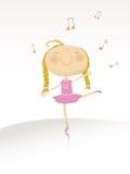 Dansende ballerina serie Royalty-vrije Stock Fotografie