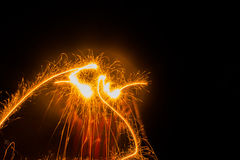 Dansende brand stock afbeelding