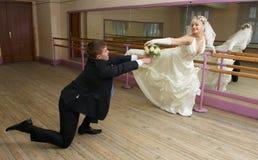 Dansende bruid Stock Fotografie