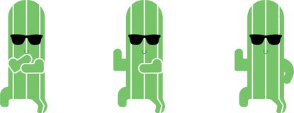 Dansende cactus gangnam illustratie door crafteroks royalty-vrije illustratie
