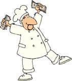 Dansende chef-kok Royalty-vrije Stock Afbeelding