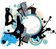 Dansende de jeugdmensen. Royalty-vrije Stock Foto's