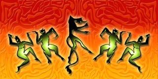 Dansende demonnen Stock Foto's