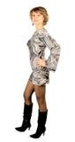 Dansende discovrouw royalty-vrije stock foto's
