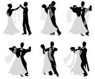 Dansende echtparen. Royalty-vrije Stock Afbeelding