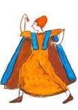 Dansende Etruscan-vrouw Royalty-vrije Stock Fotografie