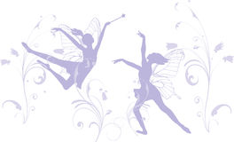 Dansende Feeën Royalty-vrije Stock Afbeeldingen