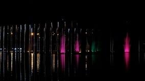 Dansende fonteinen met licht-episode 12 stock video