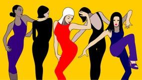 Dansende groep Stock Foto