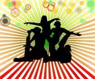 Dansende groep Royalty-vrije Stock Afbeeldingen