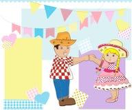 Het dansen van de jongen en van het meisje Stock Afbeeldingen