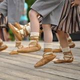 Dansende jonge geitjesvoeten Royalty-vrije Stock Fotografie