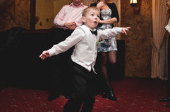 Dansende jongen Stock Foto's
