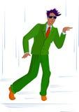 Dansende kerel Royalty-vrije Stock Fotografie