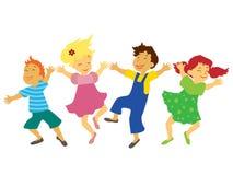 Dansende kinderen Royalty-vrije Stock Afbeeldingen