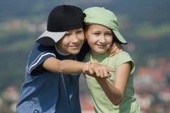 Dansende kinderen Stock Foto's