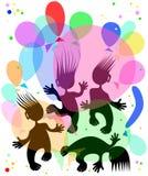 Dansende kleine mensen Stock Foto