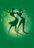 Dansende meisjes stock illustratie