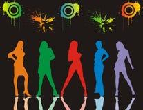 Dansende meisjes Stock Afbeelding