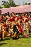 Dansende meisjes in Assam Royalty-vrije Stock Afbeelding