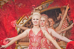 Dansende meisjes bij Verzameling Pickering Royalty-vrije Stock Foto's