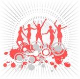 Dansende meisjes en stroken Stock Fotografie