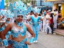 Dansende meisjes op de fiesta in Nicaragua Stock Fotografie