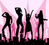 Dansende meisjes op stad Royalty-vrije Stock Foto's