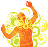 Dansende mens Stock Foto's