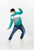 Dansende mens in studio stock fotografie