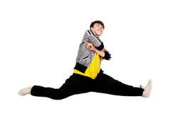 Dansende mens in studio Royalty-vrije Stock Foto