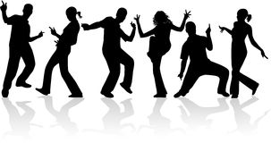 Dansende mensen Royalty-vrije Stock Afbeelding