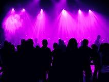 Dansende mensen in een disco stock fotografie