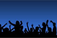 Dansende mensensilhouetten Royalty-vrije Stock Afbeeldingen