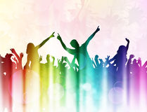 Dansende mensensilhouetten Stock Afbeeldingen