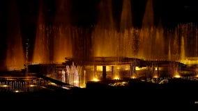 Dansende muzikale fonteinen van Praag-Episode 7 stock footage