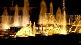 Dansende muzikale fonteinen van Praag-Episode 6 stock footage