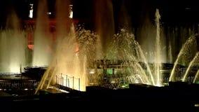 Dansende muzikale fonteinen van Praag-Episode 5 stock footage