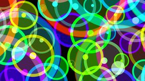 Dansende orbs van energie stock illustratie