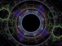 Dansende orbs van energie Stock Afbeelding