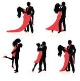Dansende paren. Stock Afbeeldingen