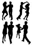 Dansende paren stock illustratie