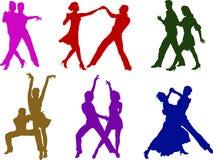 Dansende paren Stock Afbeelding