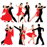 Dansende paren Royalty-vrije Stock Afbeeldingen