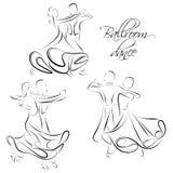 Dansende paren royalty-vrije illustratie