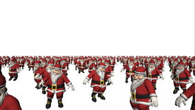 Dansende Santa Claus Crowd Loop stock illustratie