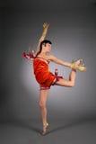Dansende schoonheidsvrouw Stock Fotografie